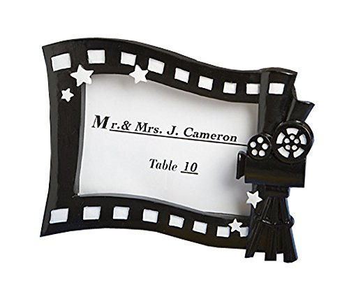 FASHIONCRAFT Fashion Craft 8187 Hollywood Movie Themed Place Card/Photo Frame, Black
