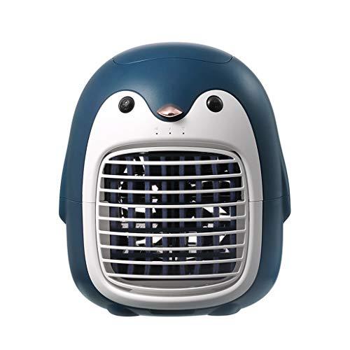 Xiuinserty Ventilador de pulverización fría Ventilador de mano Anion Ventilador de carga USB Acondicionador Pequeño Ventilador