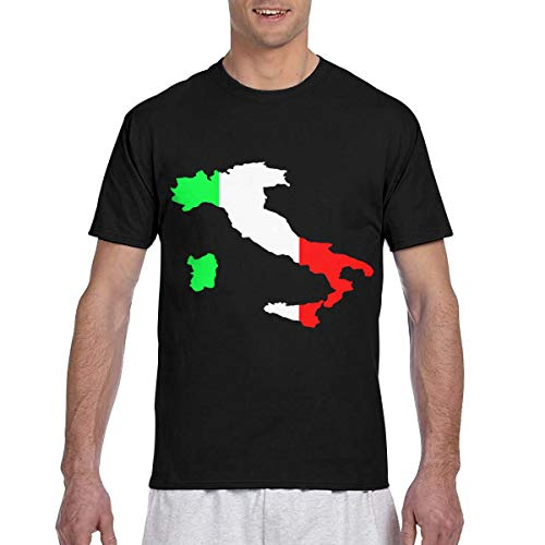 HUANANAN Italiaans Groen Wit Rode Vlag Kaart Heren 3D Alle Print Korte Mouw Casual Slim T Shirt