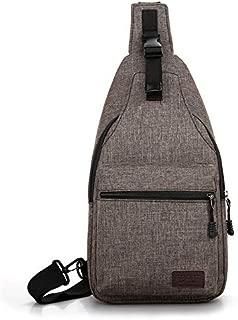 Yinmin Men's Chest Bag Multifunction Outdoor Sports Crossbody Bag Fashion Shoulder Messenger Backpack(Gray)