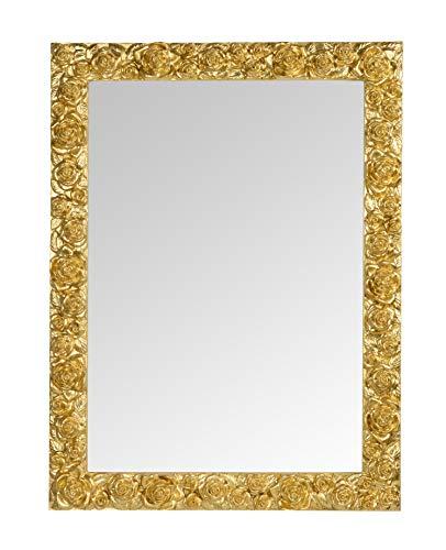 MO.WA Specchio da Parete Classico Cornice Legno Foglia Oro, cm....
