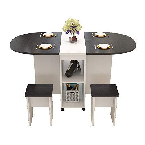 Ristrutturazione della casa Tavolo da pranzo da cucina Tavolo allungabile in legno per uso domestico Tavolo pieghevole rettangolare semplice mobile per 4 persone (Colore: Dimensione B: 120x78x75cm)