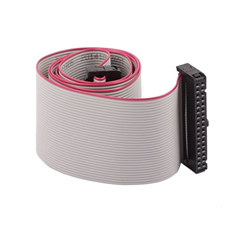 uxcell 34P 34 Way 254mm Pitch F/F IDC Extension Flat Ribbon Cable Gray 66cm Long