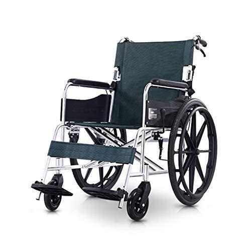 GSS-Rollstühle Fauteuil Roulant Pliant Transport Economy Lumière Voyage Automoteur Scooter Manuel Personnes Âgées Handicapés Portable