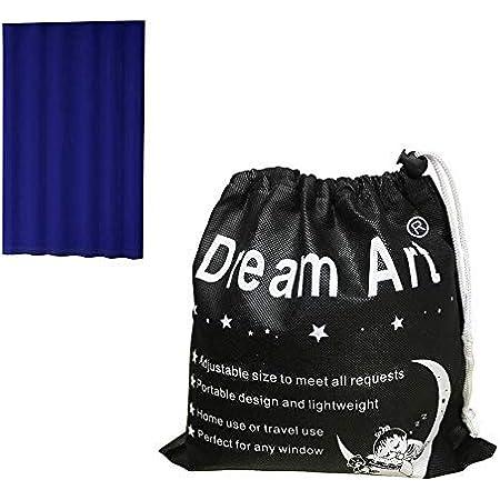 Dream Art - Rideaux occultants à isolation thermique avec œillets pour chambre à coucher, Tissu, bleu, Portable Curtains