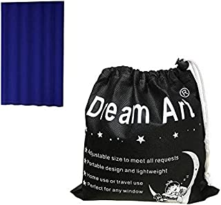 (Blue) - Dream Art Portable Blackout Blinds Curtain with Suction Cups for Home Or Travel Use, Blue, 132cm X 183cm