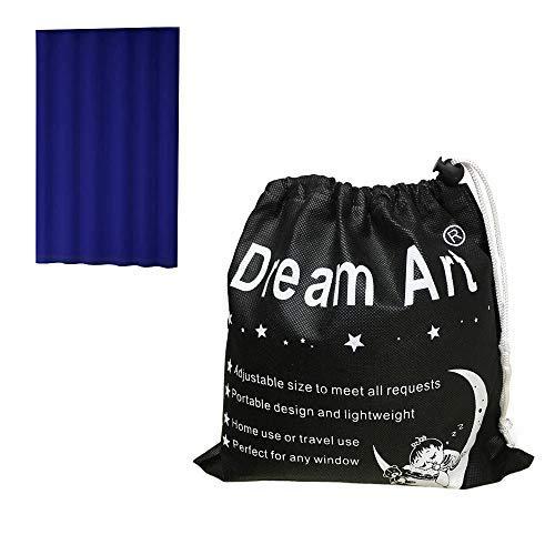 Dream Art, tenda oscurate portatile, tenda con ventose per uso a casa o in viaggio Blue