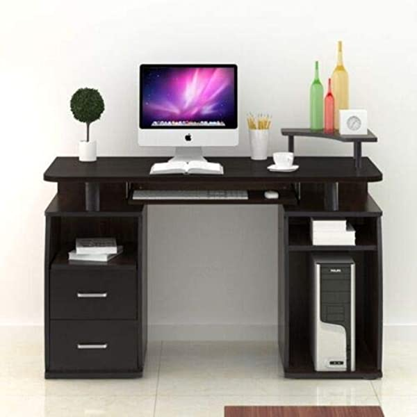 Computer Desk PC Laptop Table Wood Workstation Study Home Office W Shelf Drawer