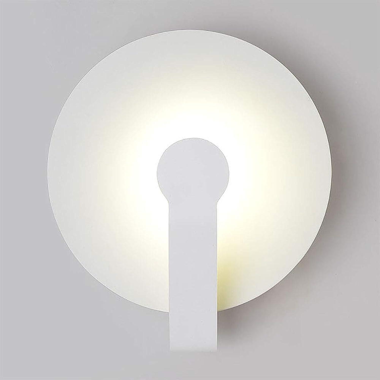 CSDM.AI Moderne Wandleuchte LED Innen, runde Acryl Wandlampe für das Schlafzimmer im Wohnzimmer, weies Licht,5W