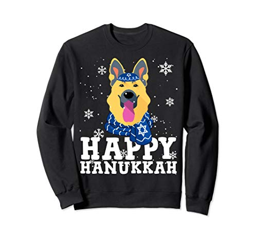 Happy Hanukkah German Shepherd Dog Ugly Hanukkah Sweater Sweatshirt