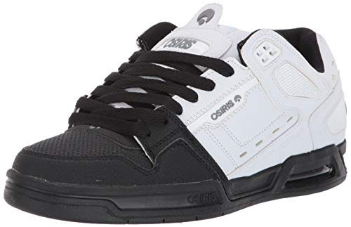 Osiris Men's Peril Shoe, White/Grey/Black, 5 M US