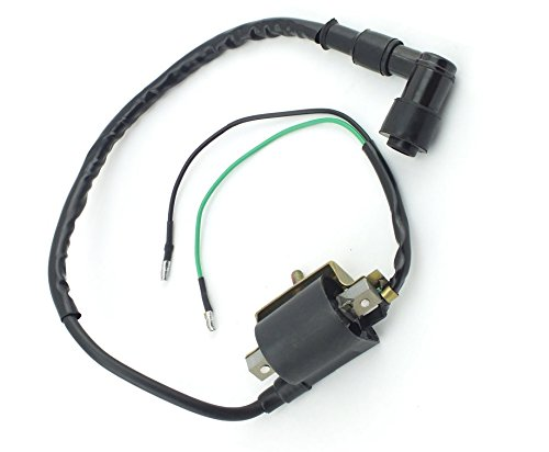 HIFROM 2-Wire Ignition Coil for Most Chinese 4-stroke 50cc 70cc 90cc 110cc 125cc ATV Dirt Bike Go Kart Honda XR50 CRF50 Series