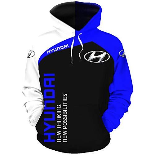Gyulyaydin Capucha Hombre Y Mujer por H.Y.Un_Da.I-S 3D Completo Impresión Cárdigan Delgado Casual Poliéster Sweatshirt Blusa/A/XL
