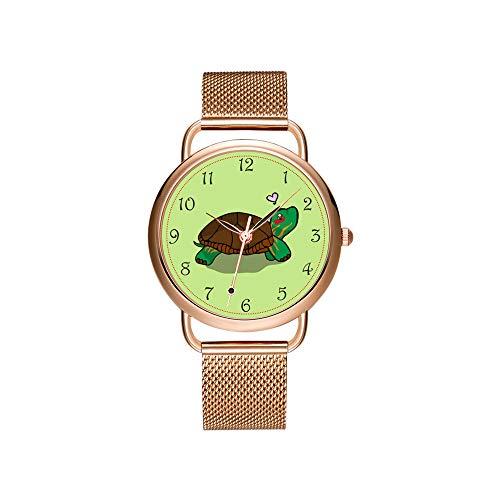 Reloj de Pulsera para Mujer, Correa de Malla, ultradelgada, Resistente al Agua,...