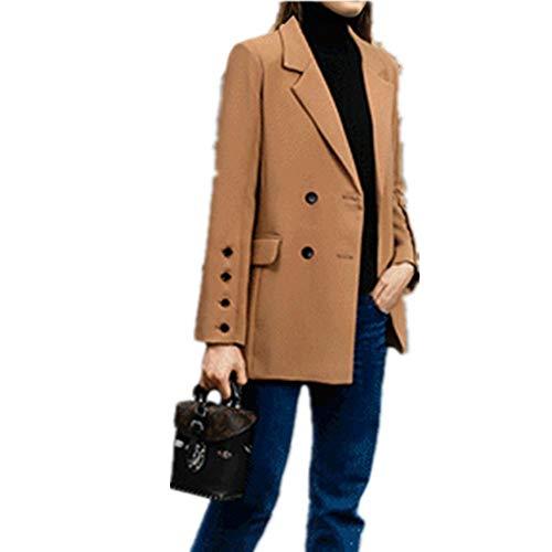 N\P Otoño nuevo abrigo versátil suelto longitud media traje de las mujeres