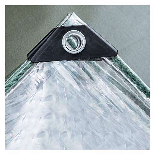 JIANFEI Cobertura De Plástico Transparente, Lona A Prueba De Viento De PVC para Ventana, Película De Invernadero De Aislamiento De Flores para El Hogar, 580 G / ㎡0,5 MM