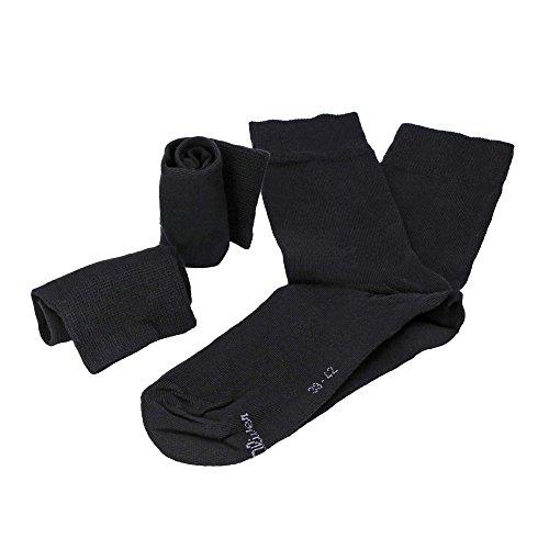 s. Oliver 4 Paar Unisex Classic Socks, Kurzsocken, Einfarbig S20028 - Farbenwahl: Farbe: Schwarz | Größe: 43-46 (9-11 UK)