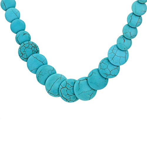 YAZILIND Jewelry Amazing Full Various Green Round Rimous Turquoise Necklace Clothes for Women