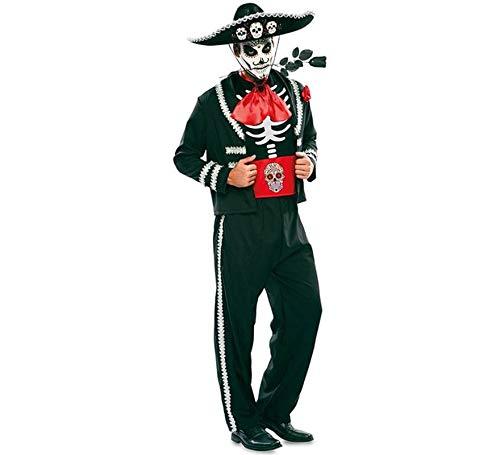 Disfraz de Novio del Día de los Muertos Negro para hombre