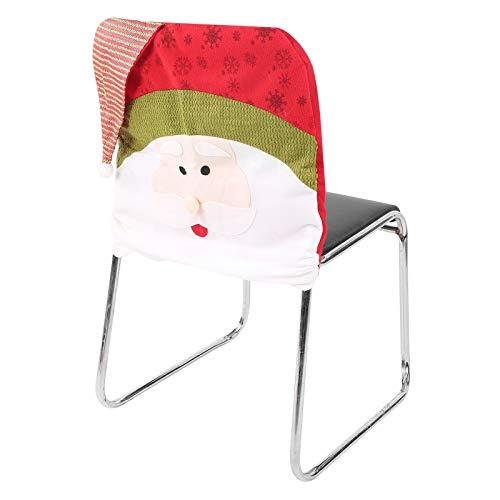Stuhlbezug, Abnehmbarer bedruckter Schonbezug Stuhllehnenbezug und Wiederverwendbare Wohnaccessoires für Festliche Familienfeiertage(Santa Claus)