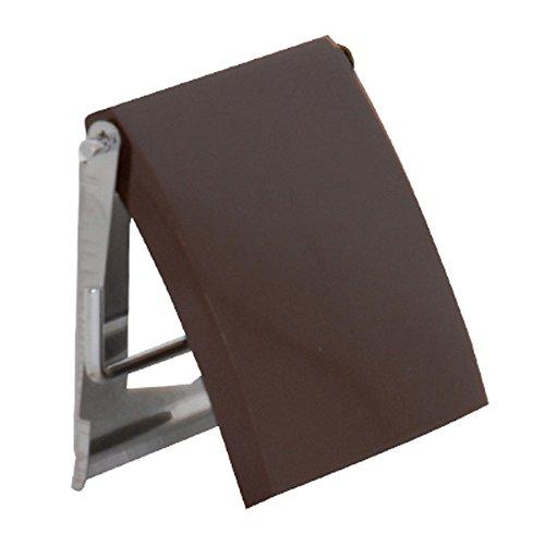 MSV 140405 - Portarrollos para Papel higiénico (Madera DM y Acero Inoxidable, 13 x 15 x 1,5 cm), Color marrón