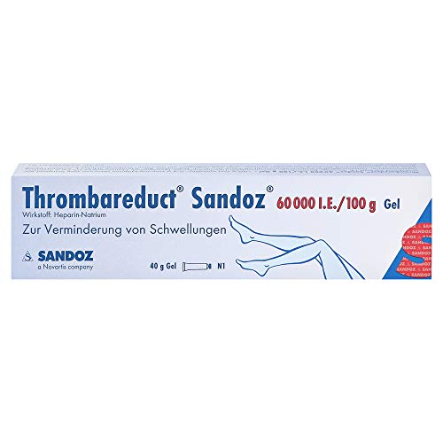 Thrombareduct Sandoz 60.000 i.E, 40 g Gel