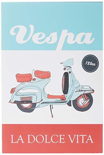 Placa Decorativa em MDF com 20x30cm - Modelo P207 - Vespa