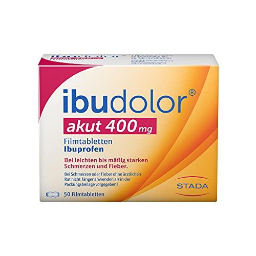 ibudolor akut 400 mg STADA - bei leichten bis mäßig starken Schmerzen und Fieber - mit dem gut verträglichen Wirkstoff Ibuprofen - schnell wirksam - 1 x 50 Filmtabletten