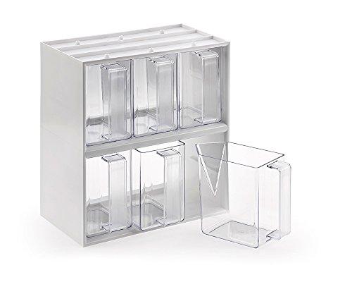 Naber Einsatzrahmen mit 6 Schütten glasklar in Kunststoff, 6fach