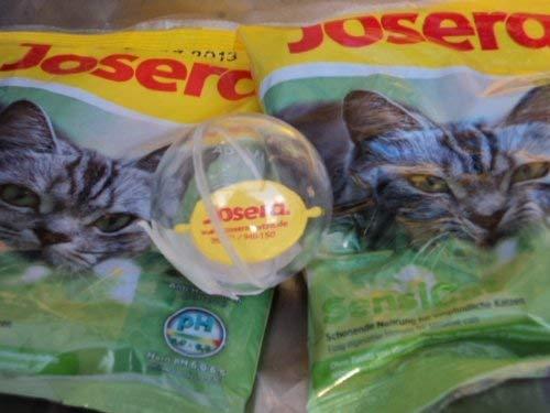 Josera Katzenspielball und 2 Futterproben Sensicat
