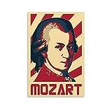 ASDQA Mozart Poster, dekoratives Gemälde, Leinwand,