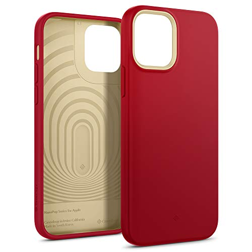Caseology Nano Pop iPhone 12 / iPhone 12 Pro Back Cover Case Designed for iPhone 12 & iPhone 12 Pro - Red