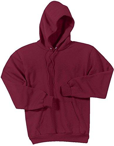 Joe's USA - Hoodies-Pullover Hooded Sweatshirt-Cardinal-5XL