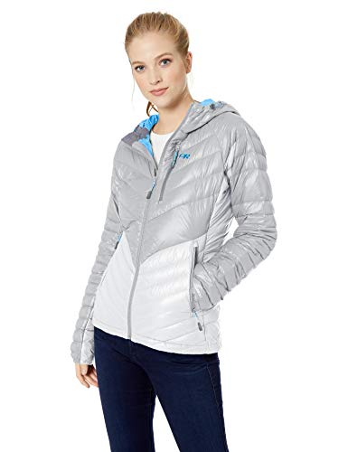 Outdoor Research Women's W's Illuminate Down Hoody, light pewter/smoke, L