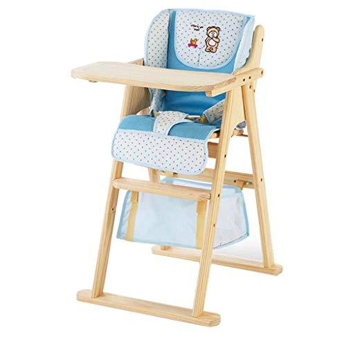 Hoge stoel, natuurlijk massief hout zonder verf, draagbare opvouwbare baby hoge stoel, geschikt voor commercieel restaurant thuis