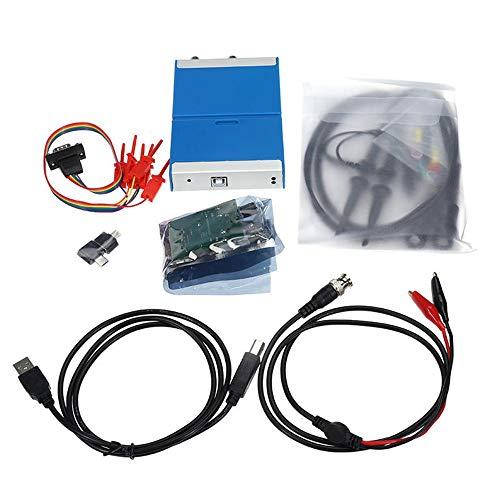 YLiansong-office Osciloscopio electrónica Digital portátil USB osciloscopio OSC482F PC Android 2.0 Virtual de 2 Canales de Ancho de Banda del osciloscopio con 13M Generador de Señal Hz