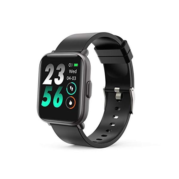 MOTOK - Reloj inteligente inteligente para hombre y mujer, 5 ATM, resistente al agua, frecuencia cardiaca y oxígeno… 1