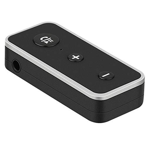 B Blesiya Adaptadores de Receptor de 3,5 Mm para Coche de Música Estéreo de Audio AUX Inalámbrico Bluetooth 5.0