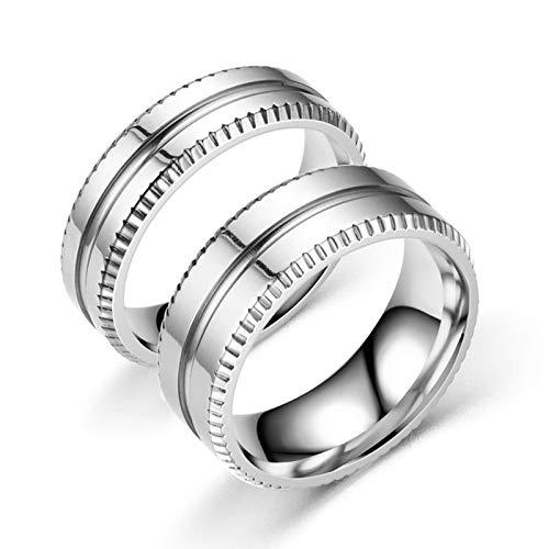ANAZOZ 2 Stücke Paarringe 6mm Edelstahl Trauringe Online Shop 8mm Edelstahl Herren Ring Zerkonia Verlobungsringe Ehepaar Ringe Set Damen Größe 60 (19.1) & Herren Größe 52 (16.6)