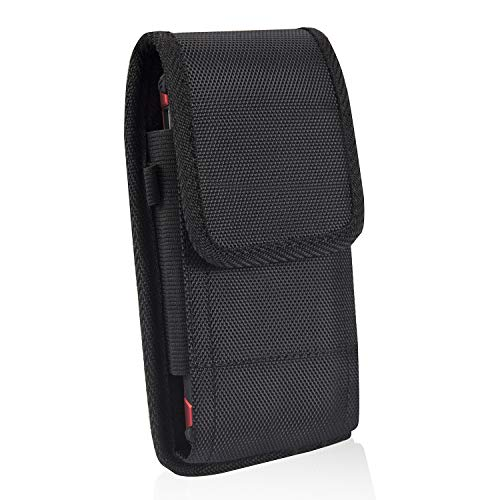 iPhone 8 Plus Belt Clip Case,Vertical/Horizontal Rugged Nylon Belt Clip Pouch Holster Case for iPhone 7 Plus iPhone Xs MAX 6S Plus Galaxy S7/S8