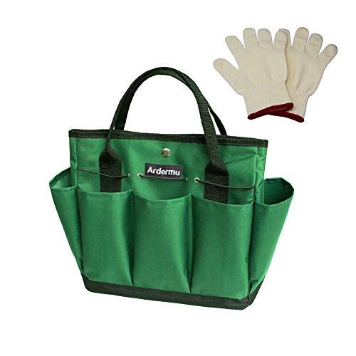 Garten Werkzeugtasche - Gartenwerkzeug Aufbewahrungstasche - Gartengeräte Tasche mit 8 Taschen Oxford Tuch - für den Innen- und Außenbereich
