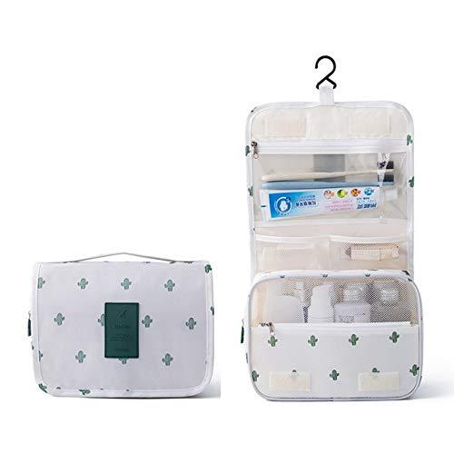 Gros Cubes d'emballage Mode étanche Voyage Capacité Sac de Rangement Crochet Portable Trousse de Toilette cosmétiques Accessoires de Mode Voyage (Color : Cactus)