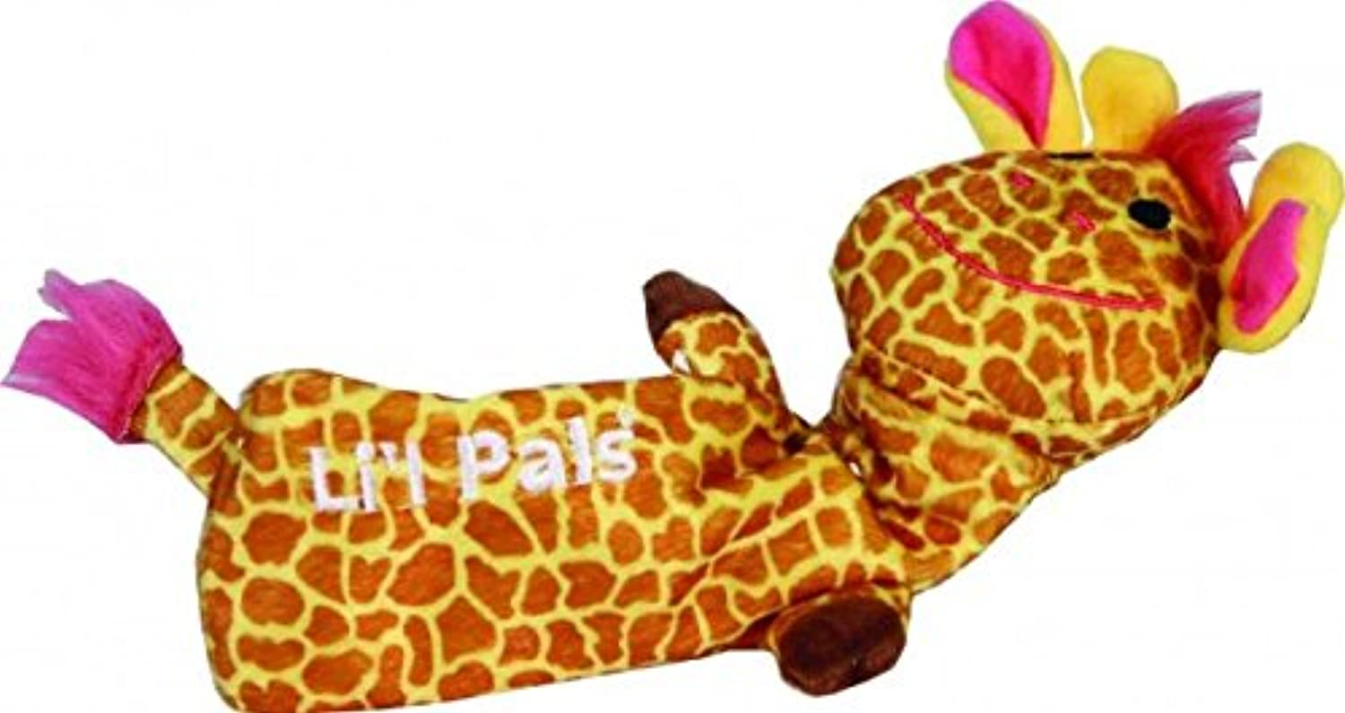 Lil Pals Stuffing Free Crinkle Giraffe Dog Toy