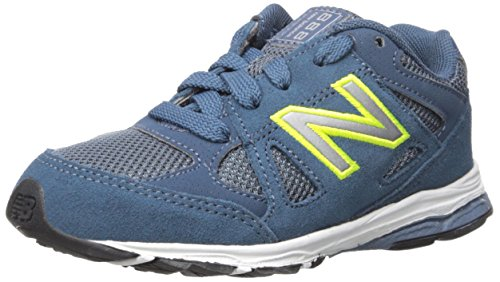 New Balance New Balance KJ888V1 Infant Running Shoe (Infant/Toddler), Blue/Yellow, 17 M EU