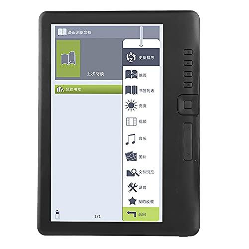 AHNUNVA Lettore di e-Book, 2100 mAh 8, costumiGB Lettore di e-Book di Lunga Durata Tablet 17,8 cm 7 Pollici 800 * 480 E-Book Portatile ad Alta Definizione con Custodia in Pelle