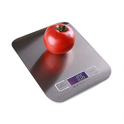 キッチンスケール スケール 計量器 はかり デジタルスケール 1gから5000gまで 風袋引き機能 高精度センサー 自動オフ 計り 料理 2つAAA電池付き