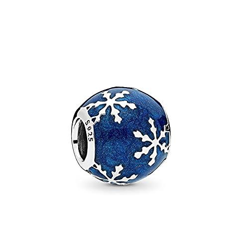LIIHVYI Pandora Charms para Mujeres Cuentas Plata De Ley 925 Cinco Joyas De Encordado Compatible con Pulseras Europeos Collars