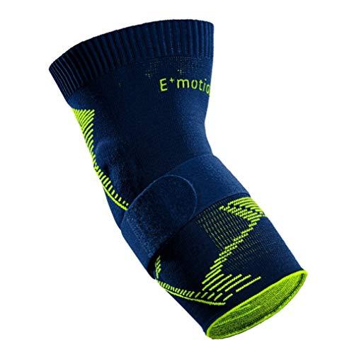 medi Epicomed E⁺motion - Ellenbogenbandage | blau/grün | Größe 4 | Sportbandage für hohe Stabilität und sicheren Halt | Beidseitig tragbar