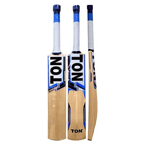 SS Ton-Revolution Cricketschläger aus Kaschmir-Weide, kurzer Griff von Sunridges mit Sonnenritzen, Schläger geeignet zum Spielen mit Lederball, normalem Korkball oder schwerem Tennisball