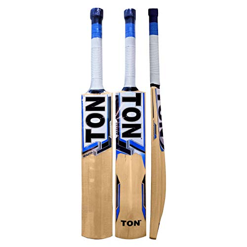 SS TON Revolution Cricket bat Kashmir Willow Short Handle by Sunridges with Free Sunridges Bat Cover - Bat Suitable for Playing with Leather Ball, Normal Cork Ball or Heavy Tennis Ball